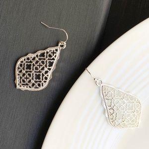 Jewelry - NEW Leaf Filigree Earrings (silver)